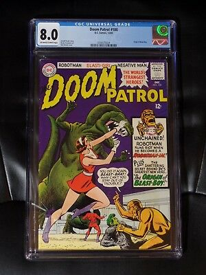 Doom Patrol #100 CGC 8.0 — Off-white to White Pages — New Case — No Reserve