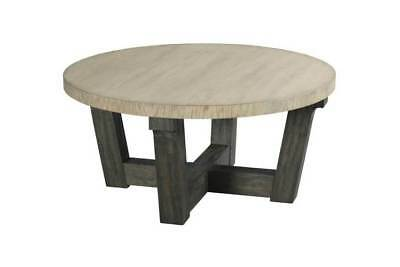 38 in. Round Cocktail Table in Distressed Dark Stain Finish [ID 3739509]