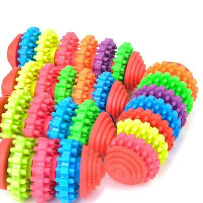 Colorful Rubber Pet Dog Puppy Dental Teething Healthy Teeth Gums Chew Toy Tools