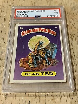 1985 Topps Garbage Pail Kids 5a DEAD TED  PSA 7