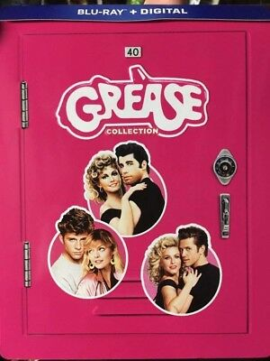 Grease Collection Steelbook+Blu-Ray No DVD/Digital Like New Combine SHIP 2 Live