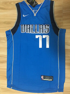 Dallas Mavericks Luka Dončić Luka Doncic #77 Mens Stitched Jersey BLUE L