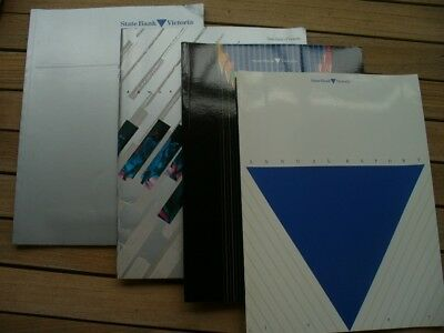 4 State Bank  Of Victoria Annual Reports 1986- 1989