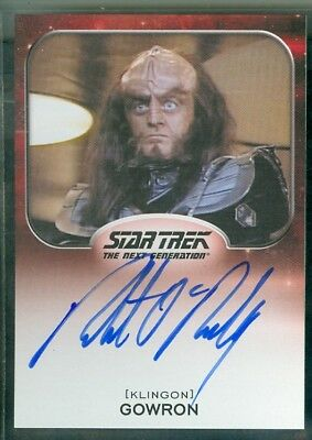 Star Trek Aliens 2014  Robert O'Reilly as Gowron Autograph  Card