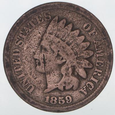 1859 Indian Head Cent Full Date Scratches on Both Sides