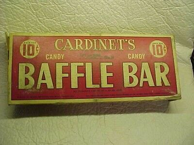 Cardinet's Baffle Bar Candy Bar Box 10 Cent Candy Bars 1951