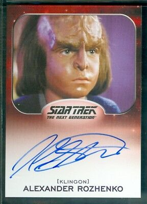 Star Trek Aliens 2014  Jon Steurer as Alexander Rozhenko Autograph  Card