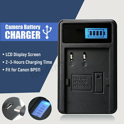 New Camera Battery charger For Canon BP511 EOS 5D 10D 20D 30D 40D 5D 50D