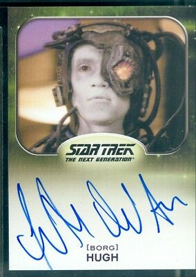 Star Trek Aliens 2014  Jonathan Del Arco as Hugh Autograph  Card