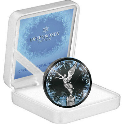 2016 Libertad DEEP FROZEN Edition 1 Oz .999 Silver / Ruthenium Coin.