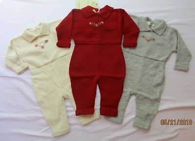 Infant Girls Baby Alpaca Coveralls  (sz 3m 6m 9m) by Kusi Wawa