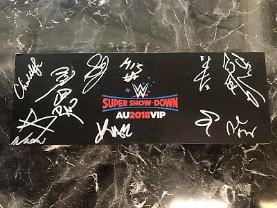 WWE Super Showdown Signed Universal Championship, Inc, HBK, DB, Becky Lynch.