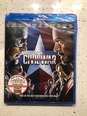 Captain America: Civil War (Blu-ray Disc) Brand New. Cracked Case *See Desc.*