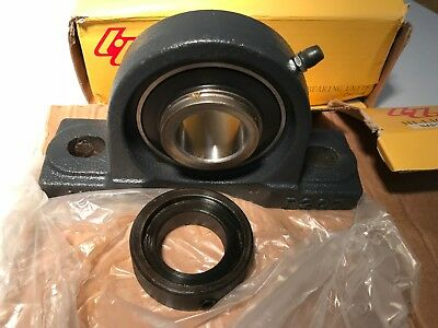 "HLUP207 HLU 1.25"" Pillow Block BEARING with eccentric locking collar NAP207-20"