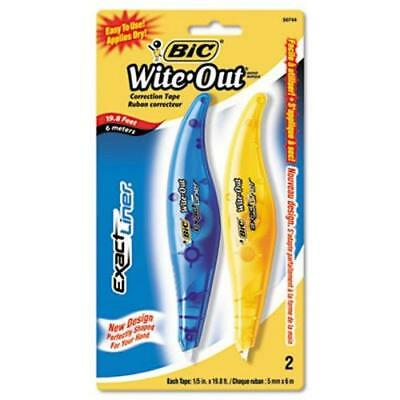 """Bic Wite-Out Exact Liner Correction Tape Pen, 1/5"""" x 236"""", 2/Pack (BICWOELP21)"""