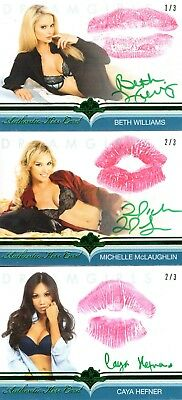 2018 Dreamgirls Update Auto MICHELLE MCLAUGHLIN 2/3 KISS AUTOGRAPH Benchwarmer