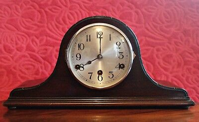 Vintage German 'D.R.G.M.' 8-Day Mantel Clock with Westminster Chime
