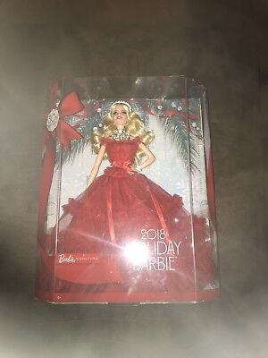 Barbie 2018 Holiday Doll, Signature Blonde, Christmas Gift, Toys, Girls