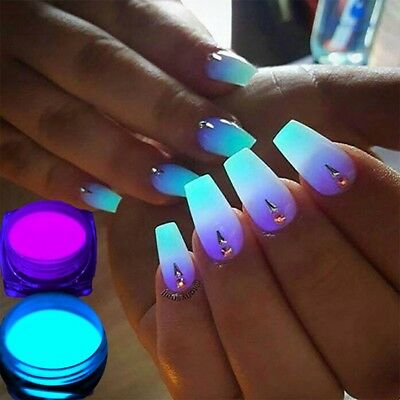 1x Glow In The Dark Powder Fluorescent Luminescent Noctilucent Nail Art Pigment