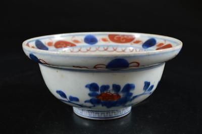 G4027: Japanese Old Imari-ware Kashiki DESSERT BOWL/dish Tea Ceremony