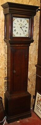 1785 30 Hour Grandfather Clock by Reeves of Lamberhurst  Oak Body