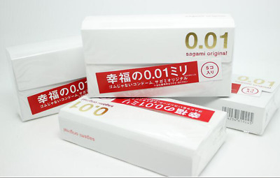 Sagami Original 001 Condoms ultra thin 0.01mm 1 Box (5 Pieces) Sexual Wellness