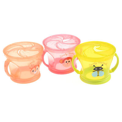 Soft Food Bowl Children Snack Spilled Cup Leak Proof Baby Snack Box Container OX