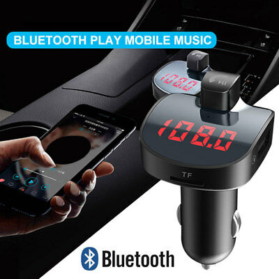 Wireless Bluetooth Handsfree Car Kit FM Transmitter MP3 Player USB Charger~