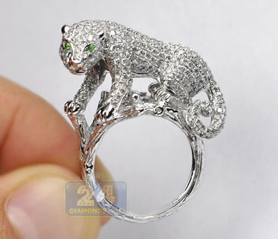 925 Solid Silver Plated Women/Men NEW Fashion Ring Gift Tiger Jewelry Size 6-10