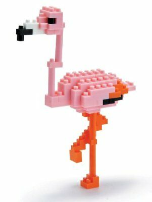 [Set of 2] Nanoblock 58514297 - Greater Flamingo, Mini Kollektion, 110 Teile, ro