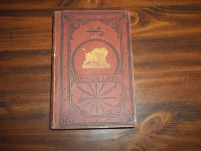 1872 Buffalo Land Wild West Frontier Indian Wars Pioneer Hunting Emigrants Texas