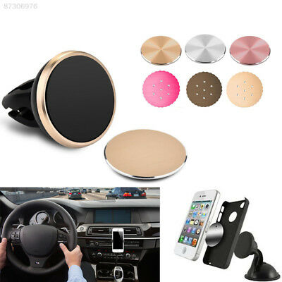 8583 Holder Matte Round GPS for iPhone Magnetic Metal Plate Bracket Universal