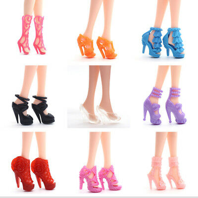 20 Pair Mixed Style Daily Wear Heels Boots Sandals Shoes for Doll Clothes AU