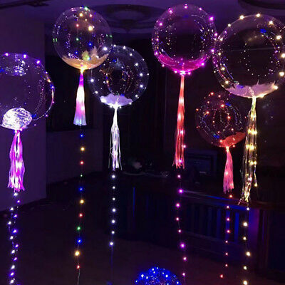 Led Lights Clear Bubble Helium Balloons Wedding Birthday Party Decoration Strict