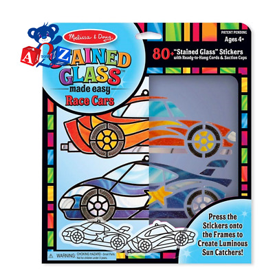 Melissa & Doug Stained Glass Made Easy - Race Cars