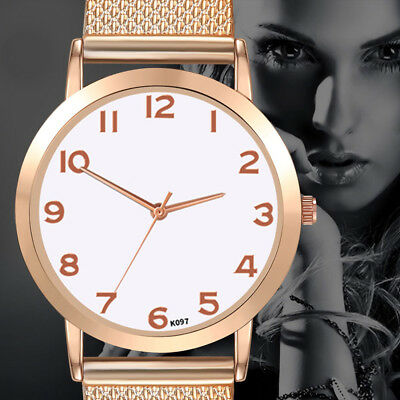 Womens Fashion Luxury Leisure Set Auger Leather Stainless Steel Quartz Watch F