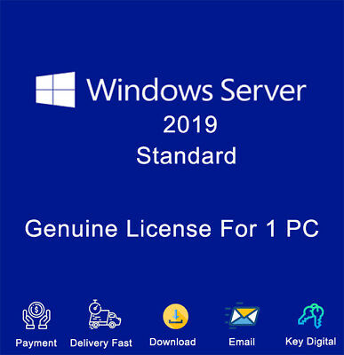 Windows Server 2019 Standard Key Download Activation For 1 PC Genuine