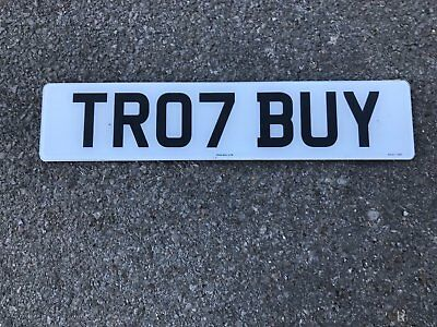 Cherished Number Plate - TRO7 BUY