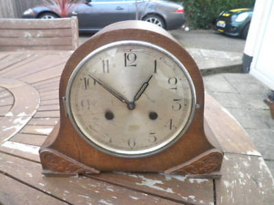 Old Westminster Chime Mantel Clock Not Working Spares Or Repair.
