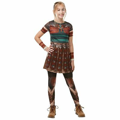 Girls Astrid How To Train Your Dragon 3 Costume Child Fancy Dress