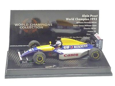 Minichamps 1:43 Williams Renault Fw15C A. Prost World Champion 1993
