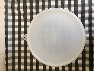 Tupperware plastic large round container, used clear