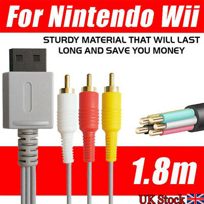 HDMI to 3 RCA Composite Cable Audio Video AV Lead for Nintendo Wii /Wii U Game