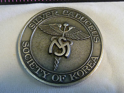 USFK, Silver Caduceus Society of Korea, Challenge Coin, US Army Military RARE US