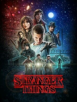 Stranger Things - One Sheet Poster Leinwand-Druck Bild (80x60cm) #120112