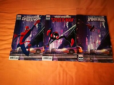 "US COMICSET "" SPIDERMAN "" 3x ""ANIMATION"" VARIANT COVER"