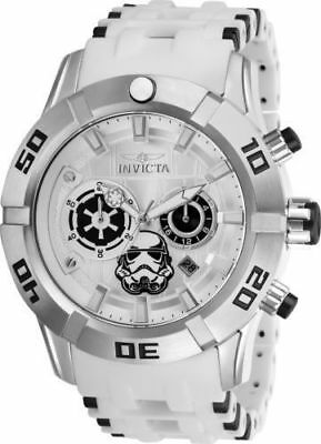 26552 Invicta Star Wars Men's Chronograph 50mm Stainless Steel Silver Dial Watch