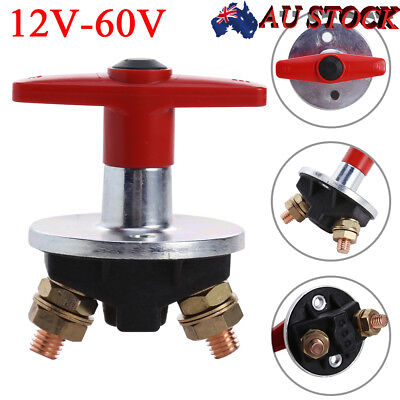 AU 12V-60V Car Fixed Key Battery Isolation Disconnect Power Kill Cut Off Switch