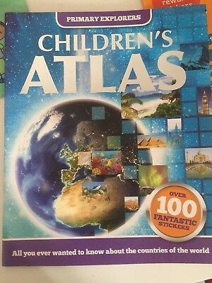 Children's Work Books / Atlas / Telling The Time / Times Table