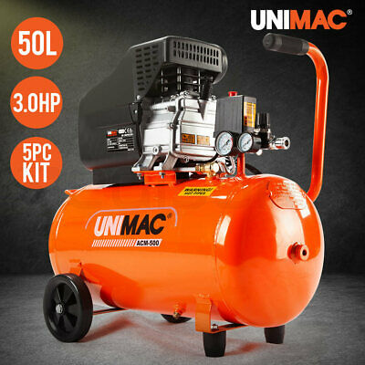 UNIMAC Air Compressor 50L 3.5HP Electric Portable Inflator Direct Tank Pump Oil
